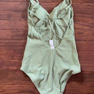 Green lululemon swimsuit